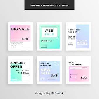 Sale Web Banner für Social Media