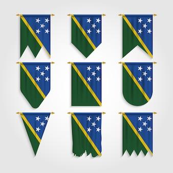 Salomonen flagge in verschiedenen formen, flagge der salomonen in verschiedenen formen