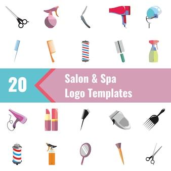 Salon- und spa-logo-vorlagen