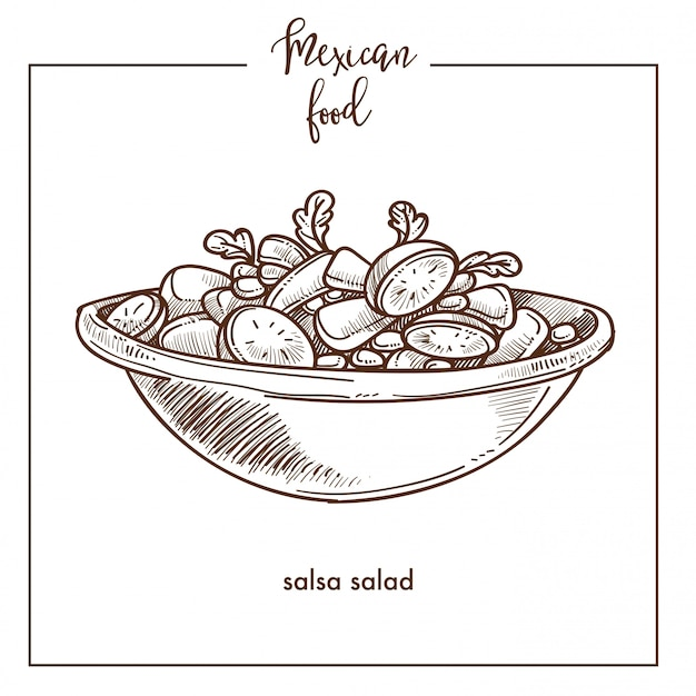 Salsasalat-skizzenhintergrund