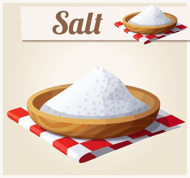 Salz. detailliert