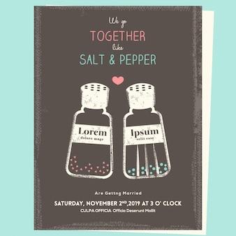 Salz und pfeffer, hochzeitseinladung