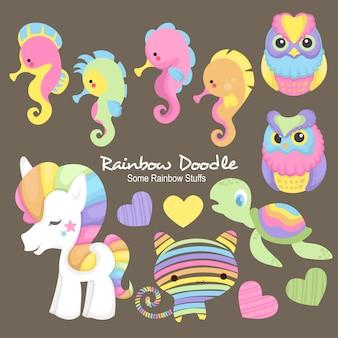 Sam rainbow objekte doodle