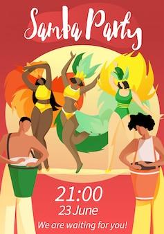 Samba party 21:00 23. juni wir warten auf sie!