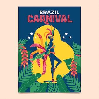 Samba-tanz zur feier des brasilianischen karnevals