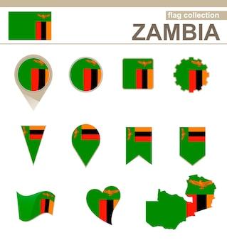Sambia flag collection, 12 versionen