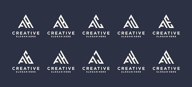 Sammelbuchstabe ein logo-dreieck