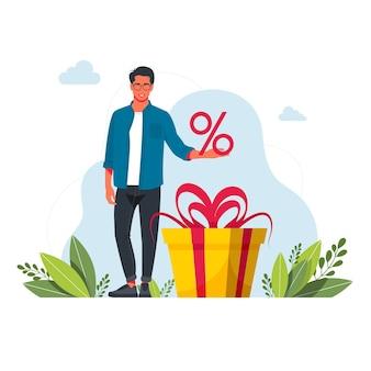 Sammeln sie treueprogrammpunkte und erhalten sie online-prämien und -geschenke. leute, die punkte, boni, geschenke, rabatte, cashback für den einkauf von geld verdienen. online-prämien, digitales empfehlungsprogramm