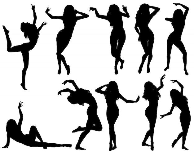 Sammle tanzende silhouetten