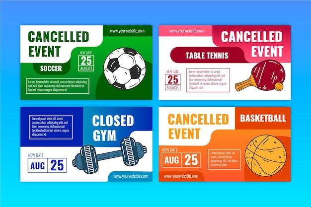 Sammlung abgesagter sportveranstaltungen - banner