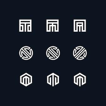 Sammlung abstrack logo