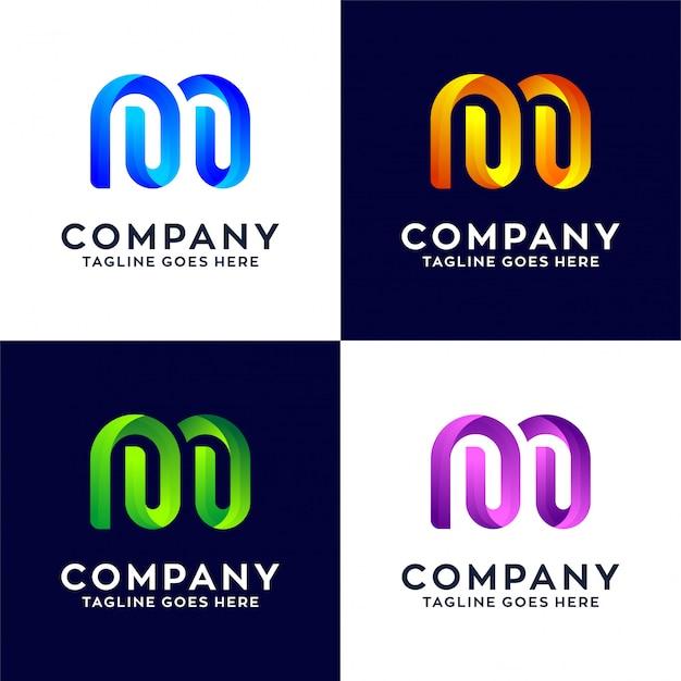 Sammlung abstrakter buchstabe m logo