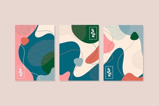 Sammlung abstrakter bunter abdeckungen