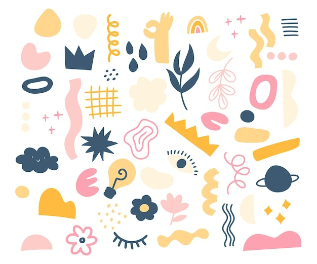 Sammlung abstrakter elemente und formen