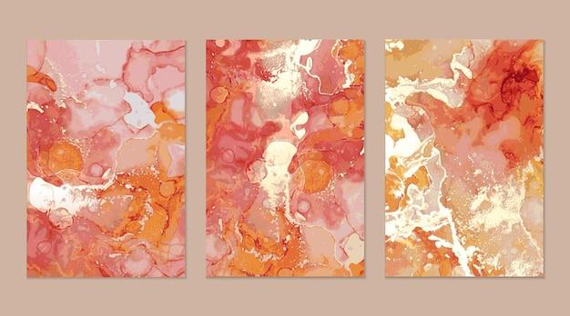 Sammlung abstrakter marmortexturen