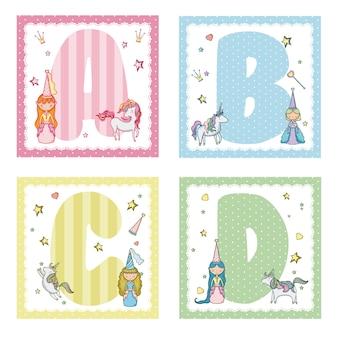 Sammlung alphabetbuchstaben für kinder