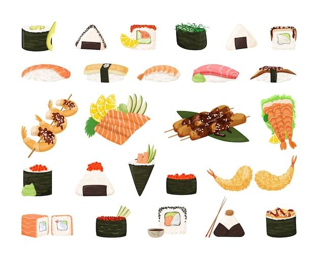 Sammlung asiatischer speisen