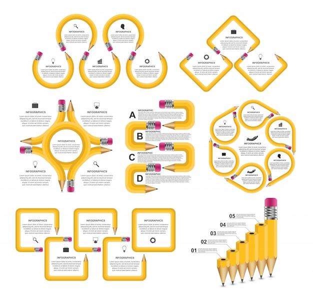 Sammlung bildung infografiken.