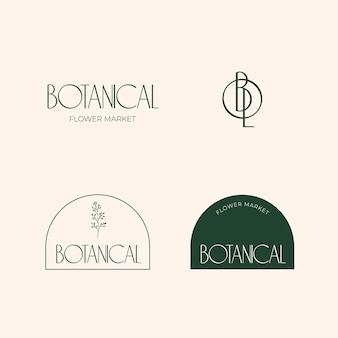 Sammlung botanischer logos