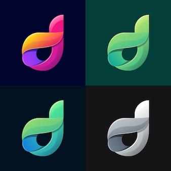 Sammlung bunte buchstabe d logo-vorlage