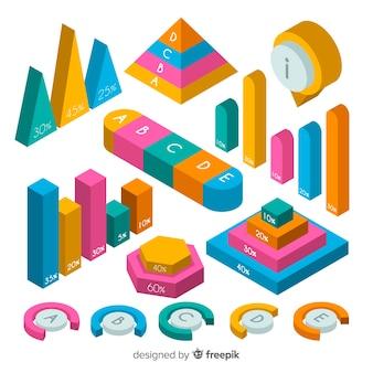 Sammlung bunte infographic elemente