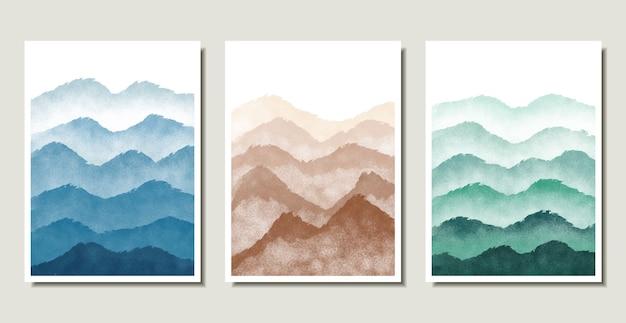 Sammlung der abstrakten berglandschaft