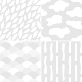 Sammlung der einfachen mustervektorillustration