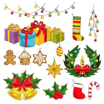 Sammlung der frohen weihnachten und des guten rutsch ins neue jahr