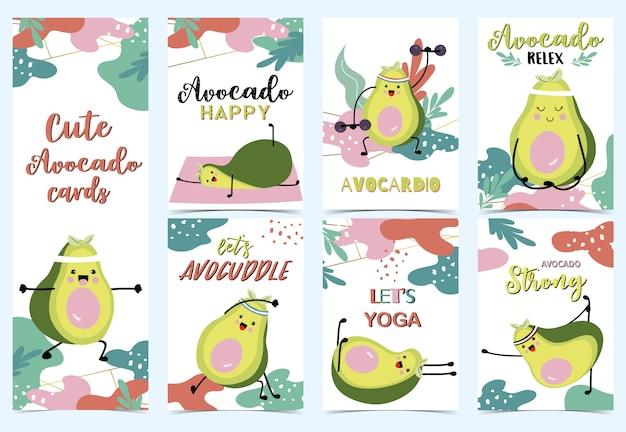 Sammlung der grünen avocado