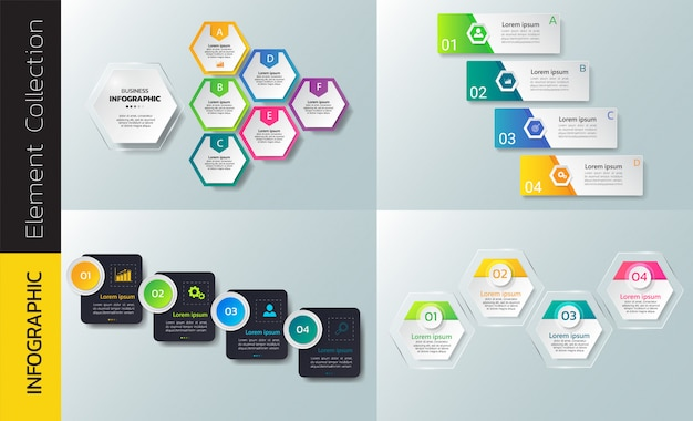 Sammlung der infografik-design-vorlage