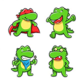 Sammlung der krokodil-karikatur-aktion