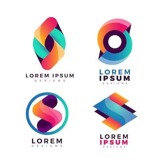 Sammlung der logo-vorlagen von gradient