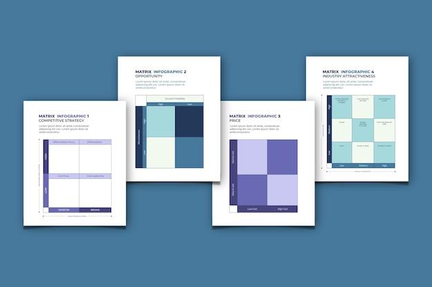 Sammlung der modernen matrixkarte