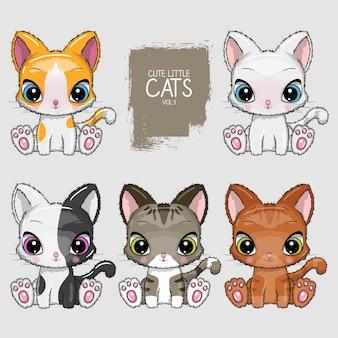Sammlung der netten katzenillustration