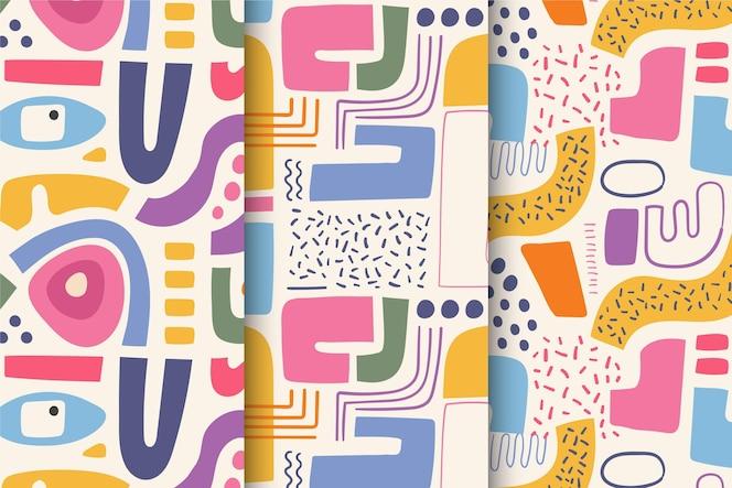 Sammlung des abstrakten handgezeichneten musters