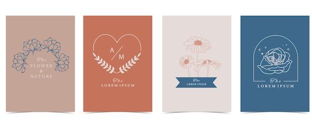 Sammlung des blumenhintergrundes gesetzt mit blume, rose, sonnenblume.