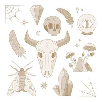 Sammlung des esoterischen elementkonzepts