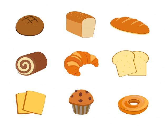 Sammlung des frischen bäckereisatzes