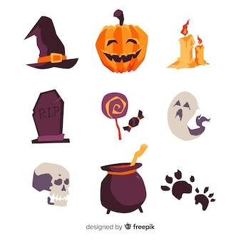 Sammlung des hand gezeichneten halloween-elements