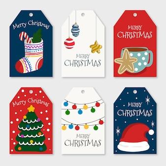 Sammlung des hand gezeichneten weihnachtsausweises