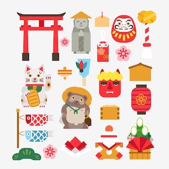 Sammlung des japanischen neuen jahres