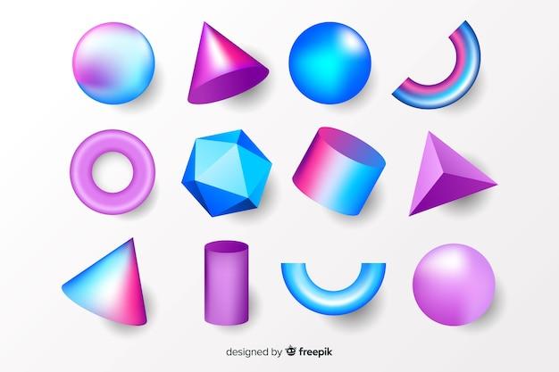 Sammlung dreidimensionaler geometrischer formen
