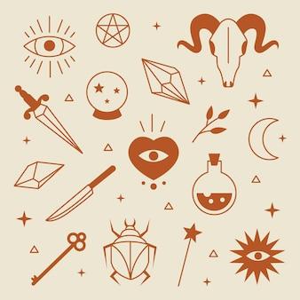 Sammlung esoterischer elemente