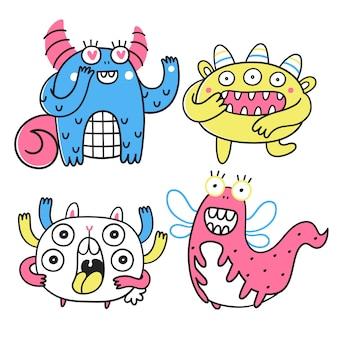 Sammlung fantastischer monster