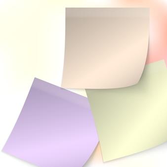 Sammlung farbiger haftnotizen
