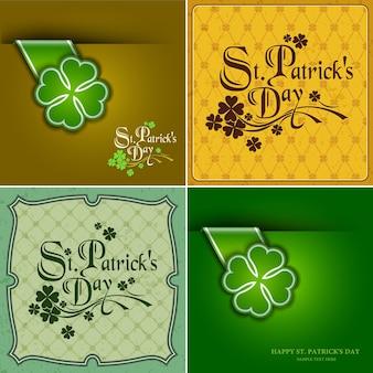 Sammlung festliche st. patrick's day card