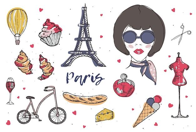 Sammlung französischer elemente