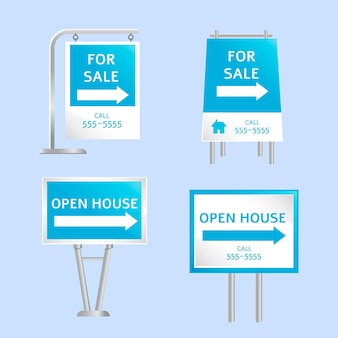 Sammlung für immobilienverkaufsschilder