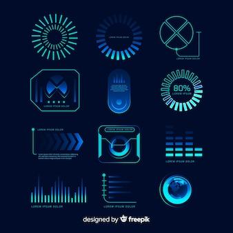 Sammlung futuristische infographic elemente