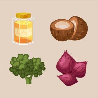 Sammlung gesunder lebensmittel